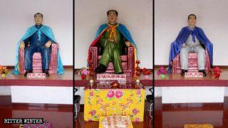 Mao Zedong wie Buddha verehrt