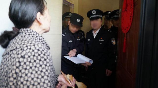 Die Polizei Besuch