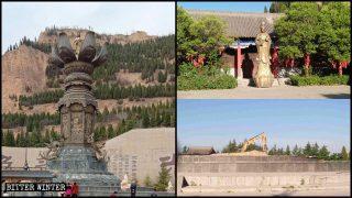 Die riesige Guanyin-Statuen in nationalen Touristenattraktionen wurden zerstört