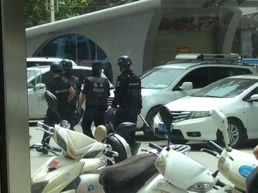 Polizei in Urumqi