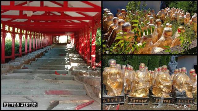 101 Arhat-Statuen wurden entfernt.