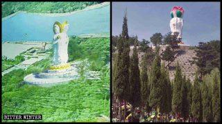 Weitere buddhistische Statuen auf Friedhöfen und in Landschaftsschutzgebieten zerstört