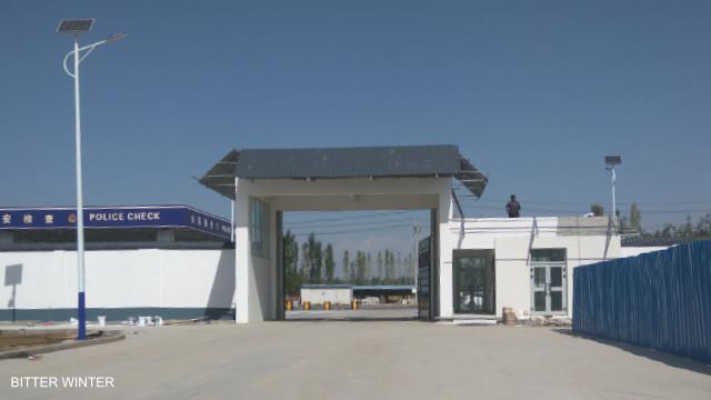 Zugang zu dem Bereich des Lagers in Yining